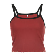 Red Black Cami Crop - Own Saviour