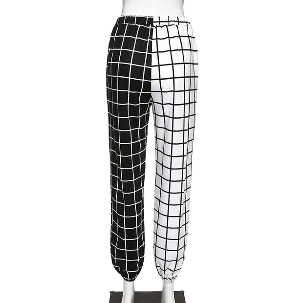 Checkerboard Splice Pants - Own Saviour - Free worldwide shipping