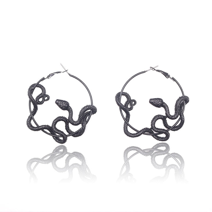 Snake Hoop Earrings - Own Saviour