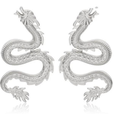 Large Dragon Earrings - Own Saviour - Free worldwide shipping