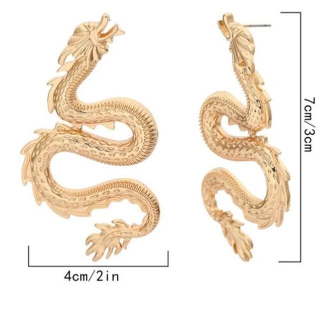 Large Dragon Earrings - Own Saviour
