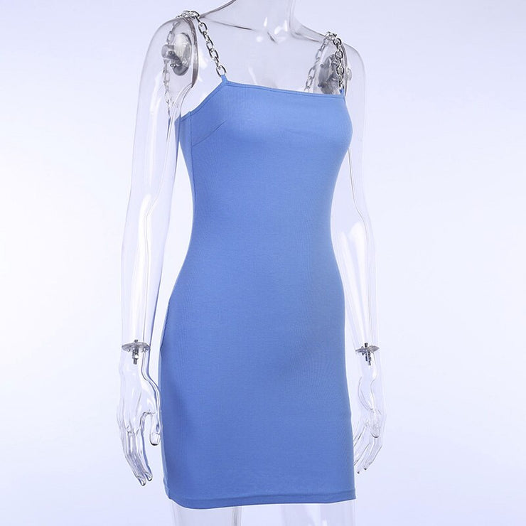 Blue Chain Mini Dress - Own Saviour