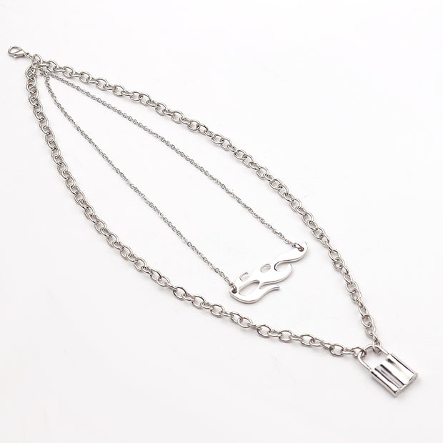 Flame Lock Necklace - Own Saviour - Free worldwide shipping