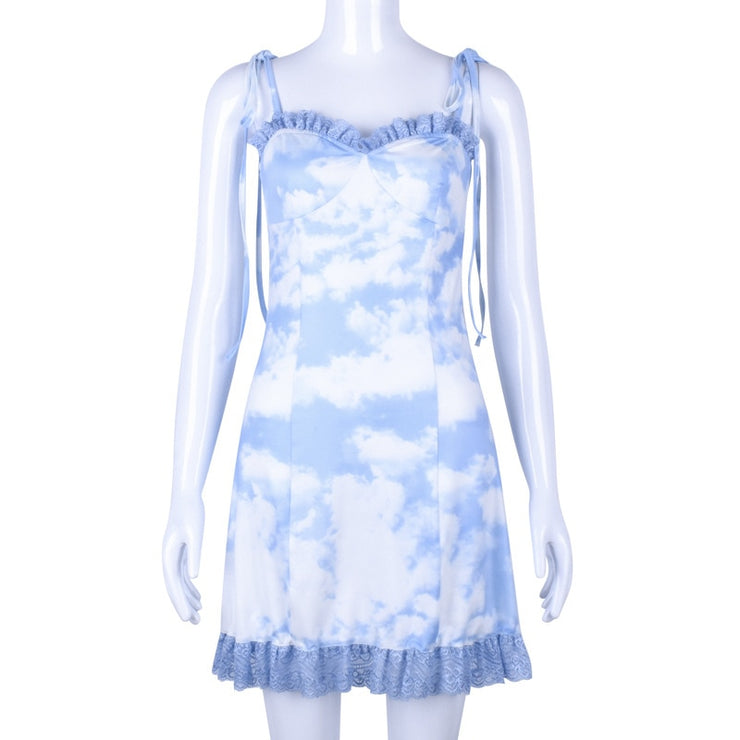 Cloud Ruffle Dress - Own Saviour - Free worldwide shipping