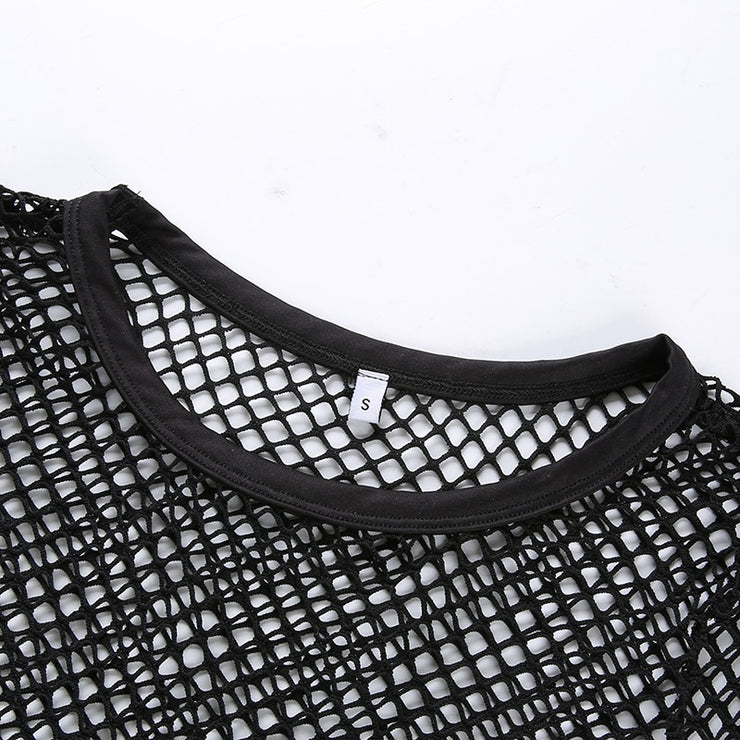 Black Fishnet Crop - Own Saviour - Free worldwide shipping