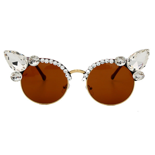 Gem Cat Eye Round Shades - Own Saviour