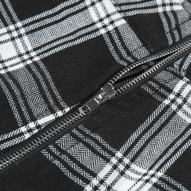 Black Plaid Pants - Own Saviour - Free worldwide shipping