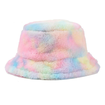 Furry Rainbow Bucket Hat - Own Saviour