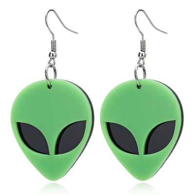 Alien Head Earrings - Own Saviour