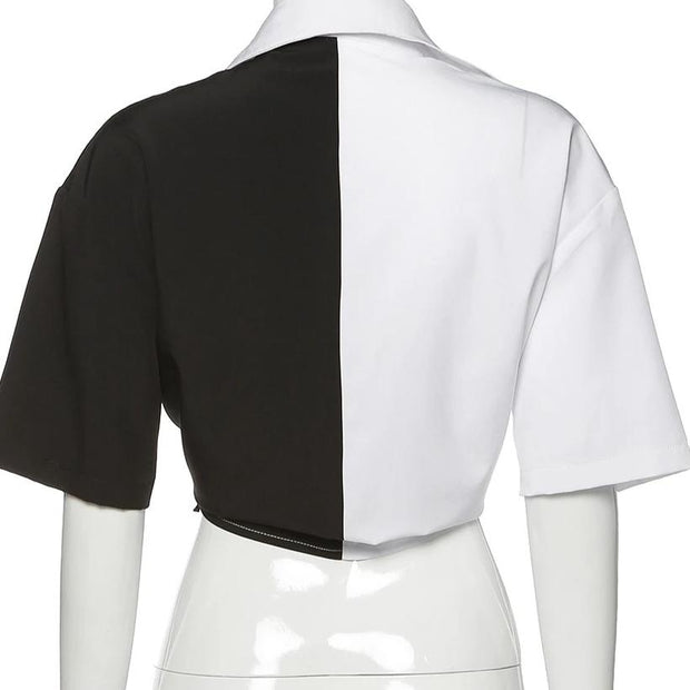 Monochrome Splice Shirt - Own Saviour - Free worldwide shipping