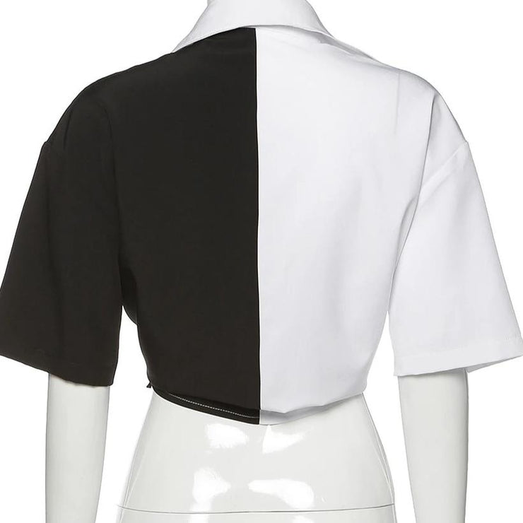 Monochrome Splice Shirt - Own Saviour