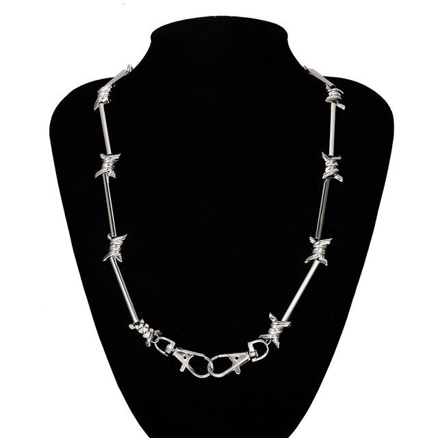 Barbed Wire Chain Necklace - Own Saviour - Free worldwide shipping
