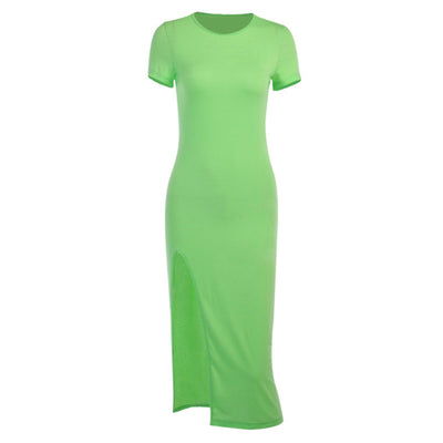 Neon Split Dress - Own Saviour - Free worldwide shipping