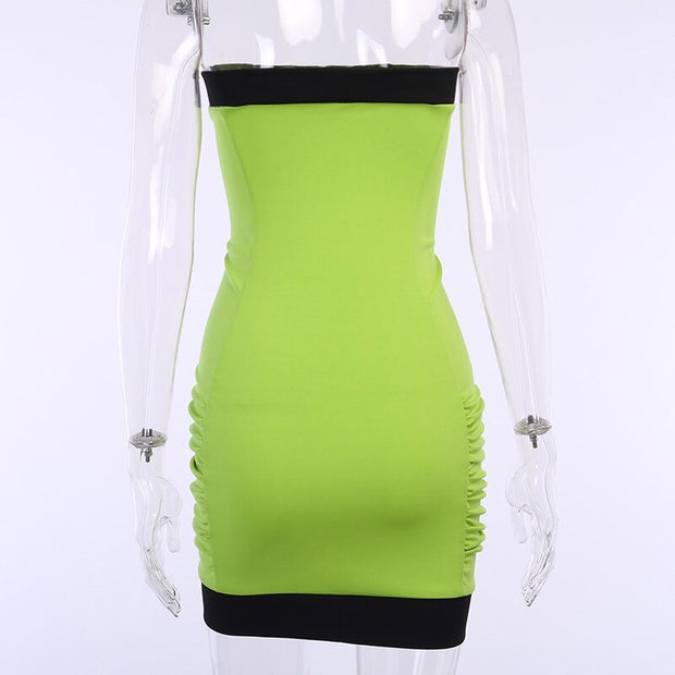 Neon Ruch Strapless Dress - Own Saviour - Free worldwide shipping