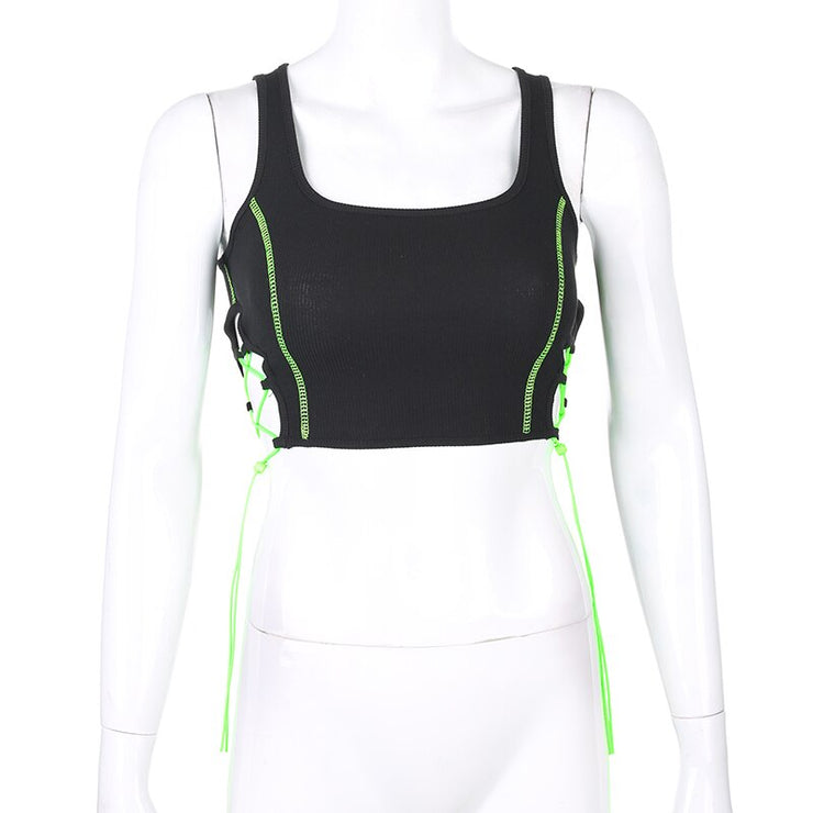 Neon Lace Up Tank - Own Saviour