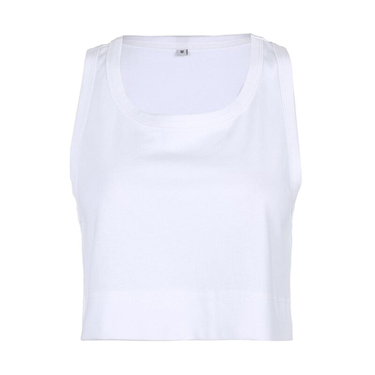 White Crop Tank - Own Saviour
