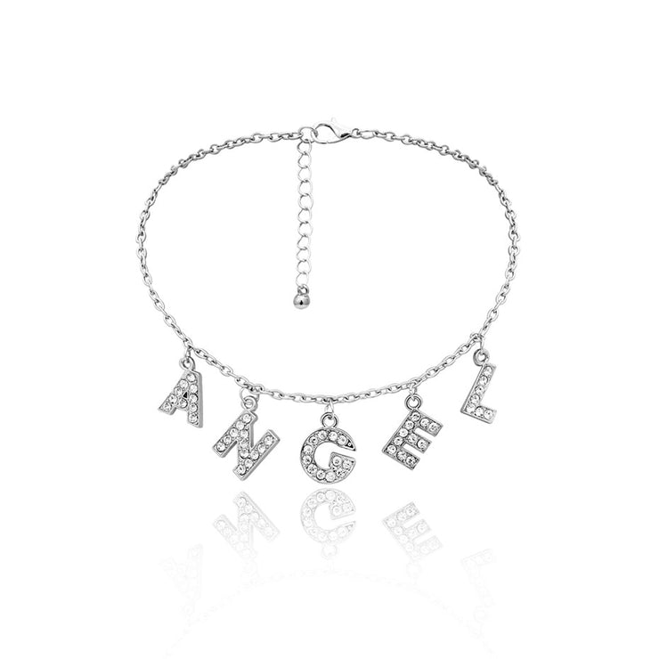 Angel Rhinestone Choker Necklace - Own Saviour