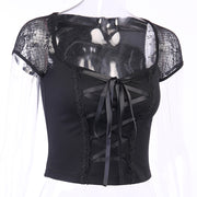 Lace Corset Tee - Own Saviour - Free worldwide shipping