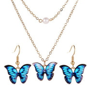 Butterfly Earrings Necklace Set - Own Saviour