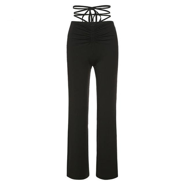 Tie Up Low Rise Pants - Own Saviour