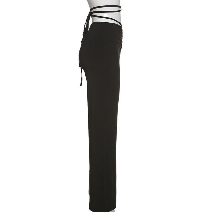 Tie Up Low Rise Pants - Own Saviour - Free worldwide shipping