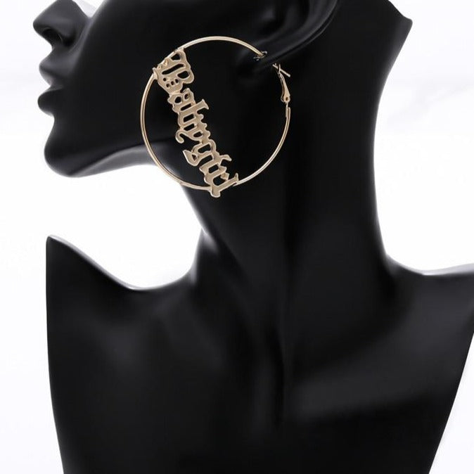 Babygirl Hoop Earrings - Own Saviour - Free worldwide shipping