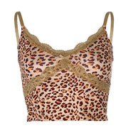 Leopard Frill Vest - Own Saviour - Free worldwide shipping