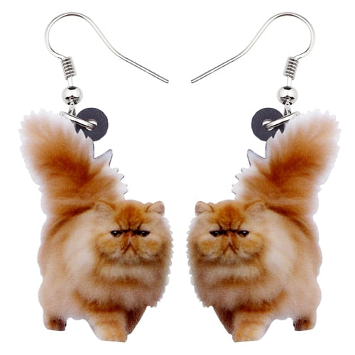 Fluffy Cat Dangle Earrings - Own Saviour