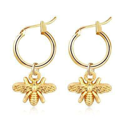 Bee Mini Hoop Earrings - Own Saviour