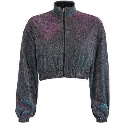 Glitter Turtleneck Zip Jacket - Own Saviour - Free worldwide shipping