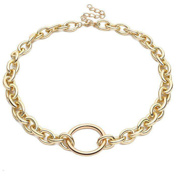 Chunky Chain Ring Necklace