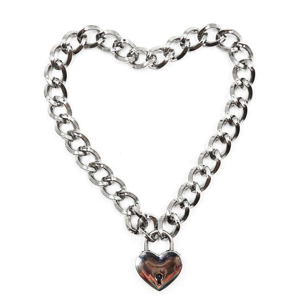 Chunky Heart Lock Necklace - Own Saviour