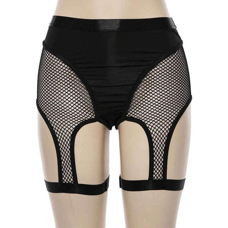 Fishnet Suspender Shorts - Own Saviour - Free worldwide shipping
