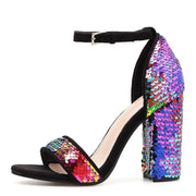 Multicoloured Sequin Heels