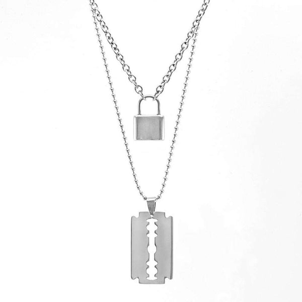 Lock Blade Necklace