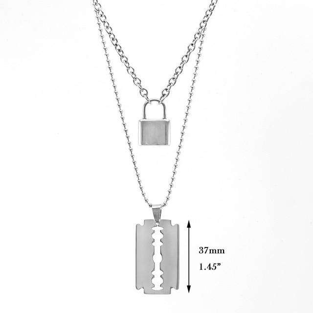 Lock Blade Necklace - Own Saviour - Free worldwide shipping