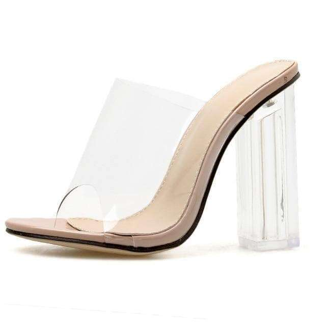 Clear PVC Slip On Heels - Own Saviour - Free worldwide shipping