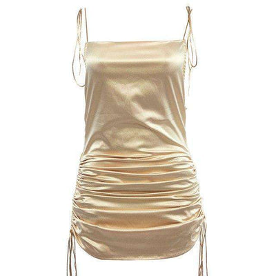 Low Back Ruched Dress - Own Saviour - Free worldwide shipping