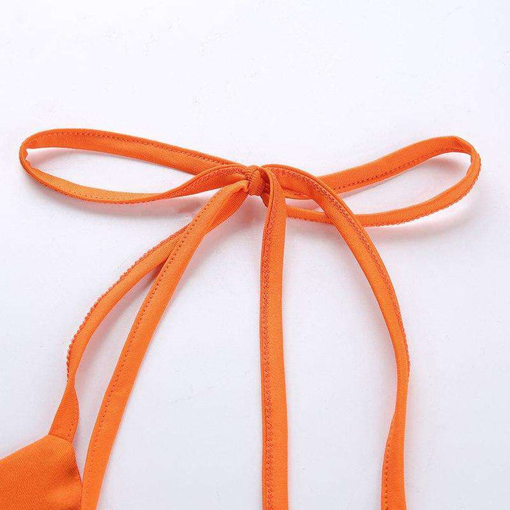 Orange Ring Halter Crop - Own Saviour - Free worldwide shipping