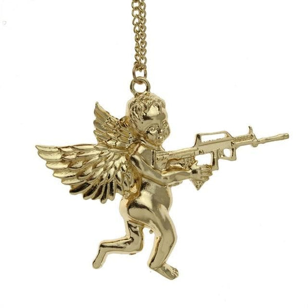 Large Angel Gun Necklace