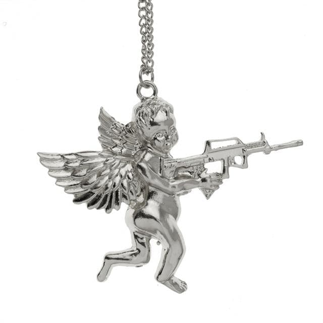 Large Angel Gun Necklace - Own Saviour