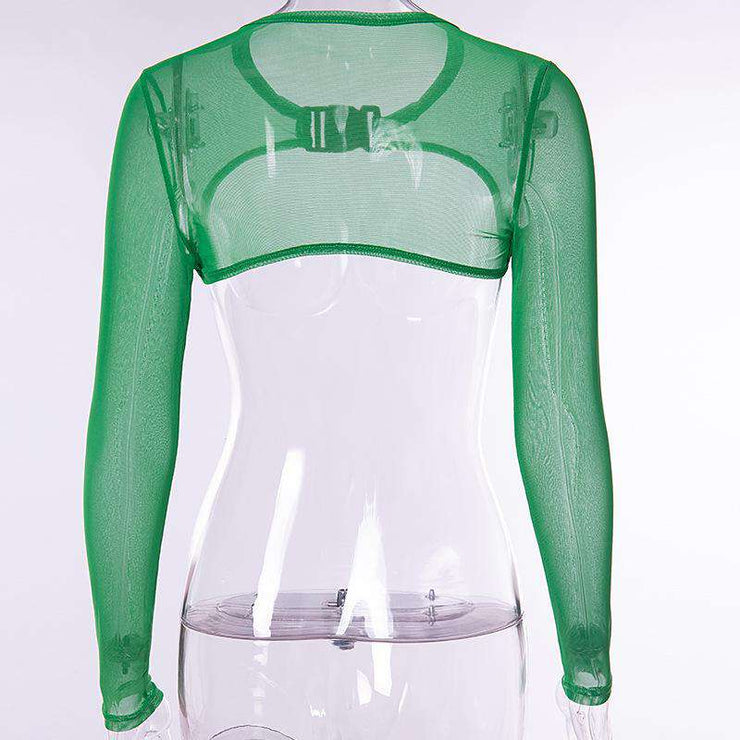Various Colour Mesh Buckle Crop - Own Saviour - Free worldwide shipping