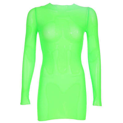 Neon Green Mesh Dress - Own Saviour