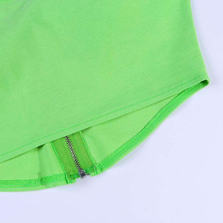 Neon Zip Crop - Own Saviour - Free worldwide shipping