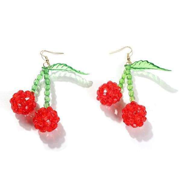 Bead Cherry Earrings - Own Saviour - Free worldwide shipping