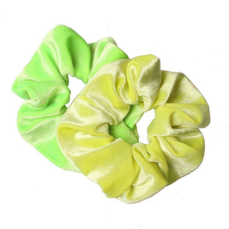 Velvet Neon Scrunchies (Pair) - Own Saviour