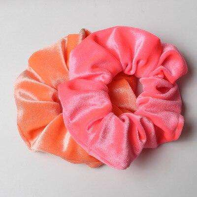 Velvet Neon Scrunchies (Pair)