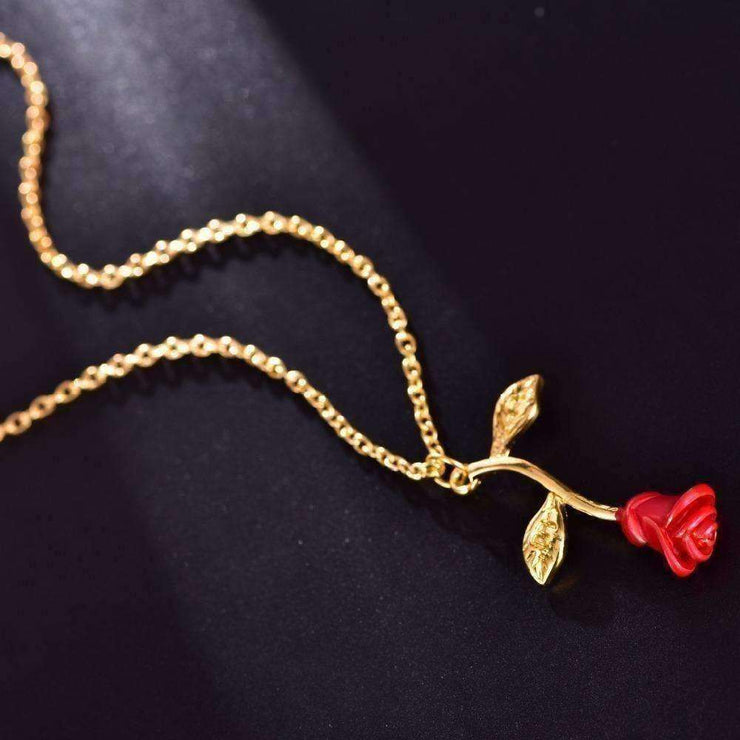 Red Rose Necklace - Own Saviour - Free worldwide shipping