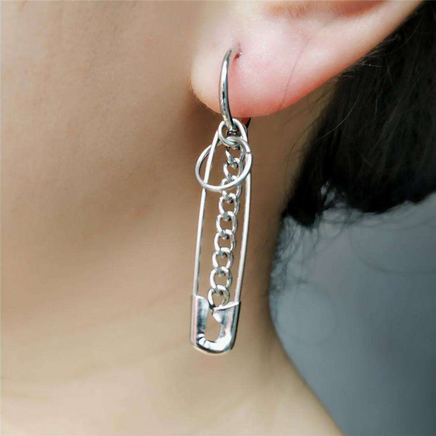 Safety Pin Earrings - Own Saviour - Free worldwide shipping