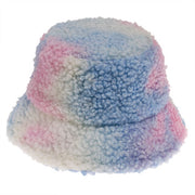 Tie Dye Faux Fur Bucket Hat - Own Saviour - Free worldwide shipping